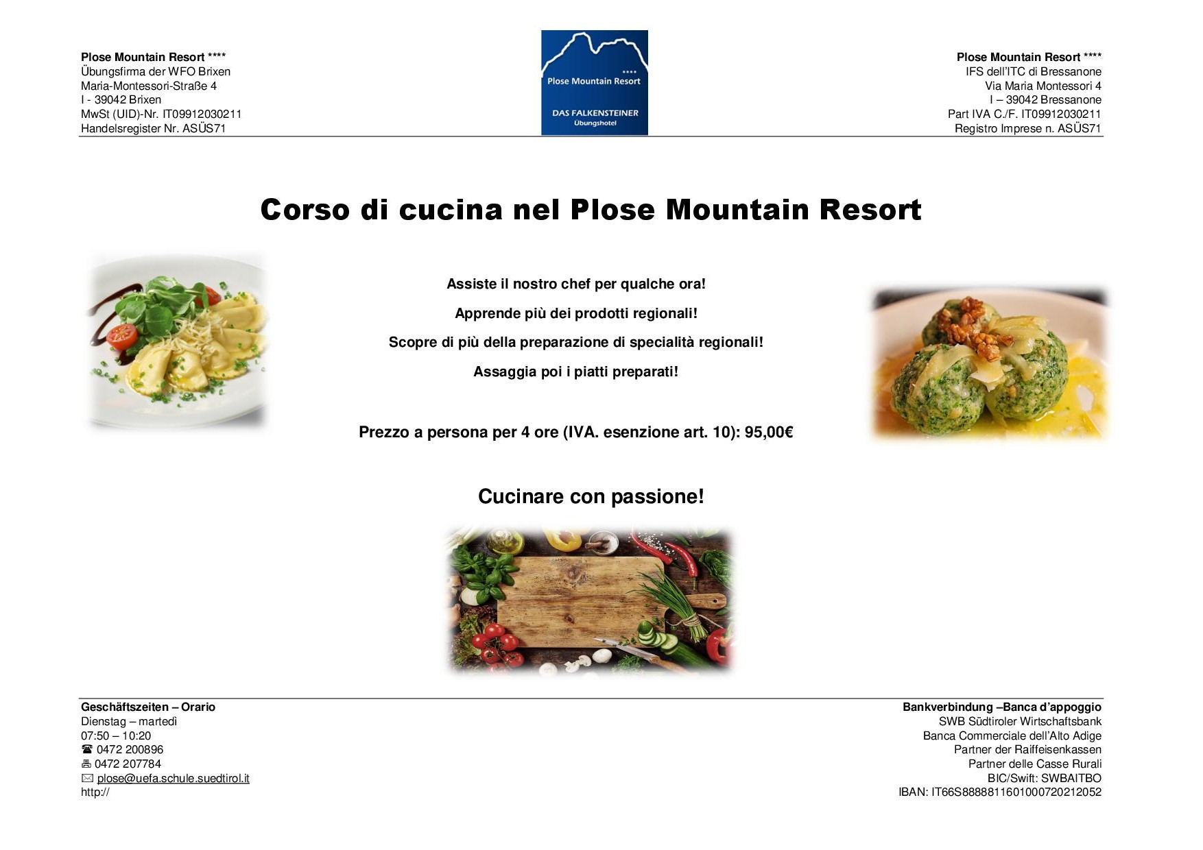 Angebote : Corso di cucina